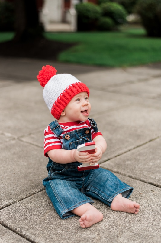 Where's Waldo One Year Old Session, Bothell, Caylie Mash Photography