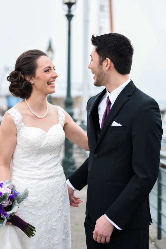 Bellingham Ferry Terminal Wedding, Caylie Mash Photography, First Look