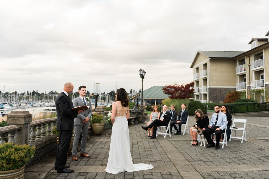 Bellingham WA Micro Wedding at Hotel Bellwether, Caylie Mash Photography