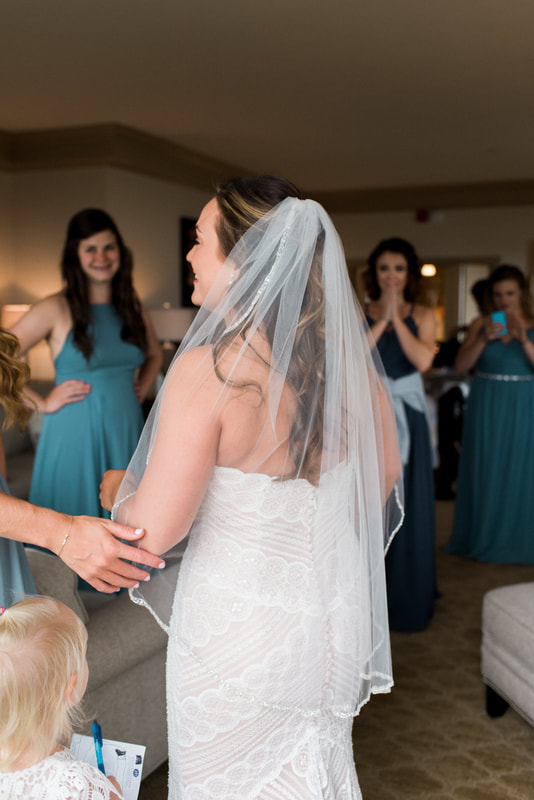 Caylie Mash Photography, Bellingham Washington Wedding and Engagement Photographer, Whatcom County, PNW, Bellwether Hotel, Getting Ready, Beaded Wedding Dress, Veil