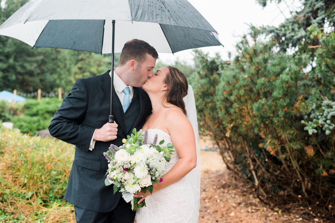 Caylie Mash Photography, Bellingham Washington Wedding and Engagement Photographer, Whatcom County, Rainy Pacific Northwest Backyard Wedding, PNW, First Look, Beaded Wedding Dress