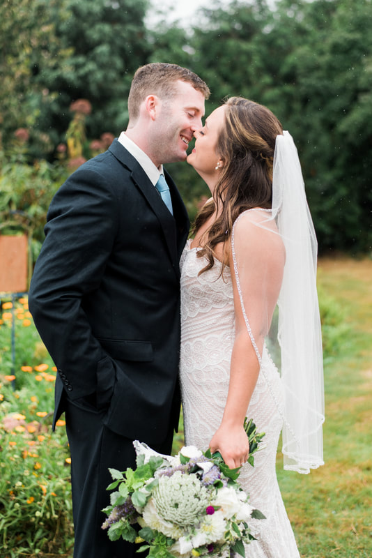 Caylie Mash Photography, Bellingham Washington Wedding and Engagement Photographer, Whatcom County, Rainy Pacific Northwest Backyard Wedding, PNW, Bride and Groom Portraits, Beaded Wedding Dress