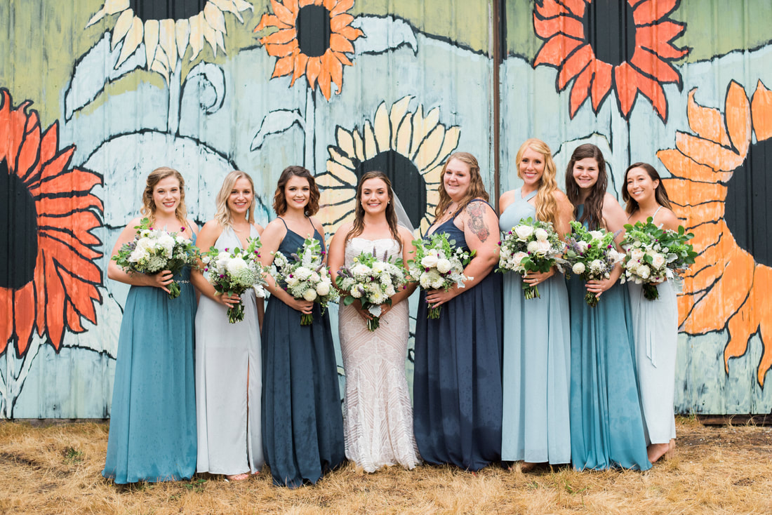 Caylie Mash Photography, Bellingham Washington Wedding and Engagement Photographer, blue and grey wedding, Whatcom County, Rainy Pacific Northwest Backyard Wedding, PNW, Wedding Party