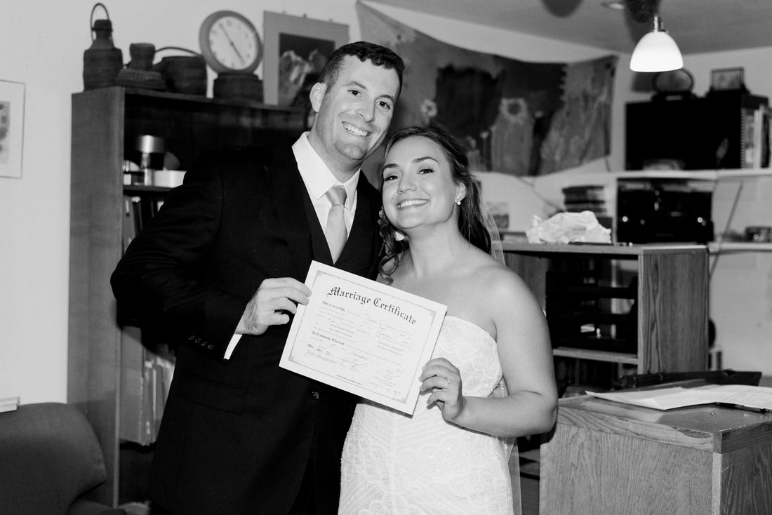 Caylie Mash Photography, Bellingham Washington Wedding and Engagement Photographer, Whatcom County, Rainy Pacific Northwest Backyard Wedding, PNW, Marriage Certificate Signing