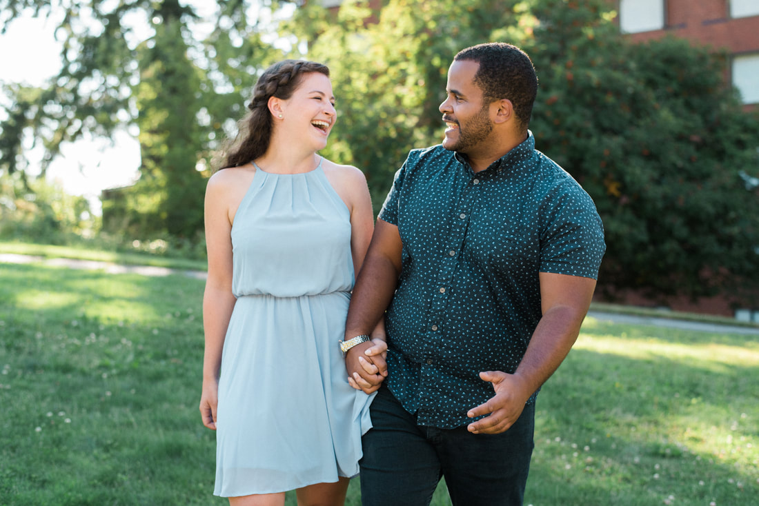 WWU Bellingham Western Washington University Engagement Session, Engagement Wedding Photographer, Caylie Mash Photography, Periwinkle Blue